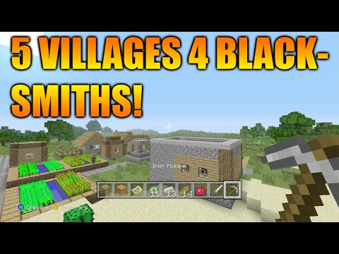 ★Minecraft Xbox 360 + PS3: TU29 Amazing Seed 5 Villages, 4 Blacksmiths EPIC Loot, Temples & MORE!★