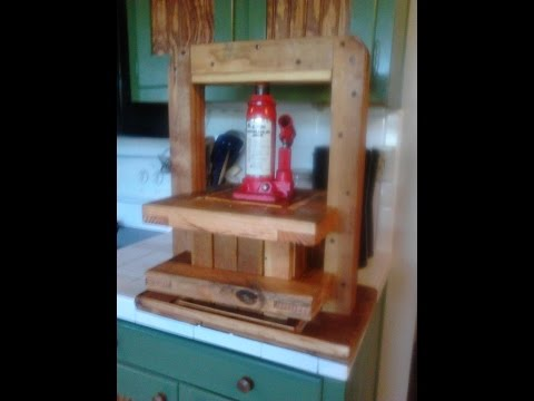 My DIY Cider and Fruit Press