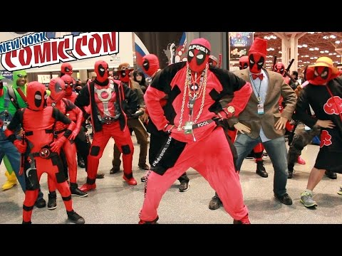DEADPOOL DANCE PARTY at New York Comic Con - bonus video