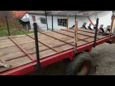 Conversion from  trailer for hay to manure spreader 1 part