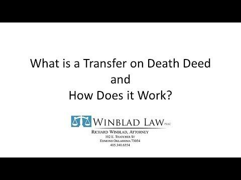 Oklahoma Transfer on Death Deed Form--Oklahoma