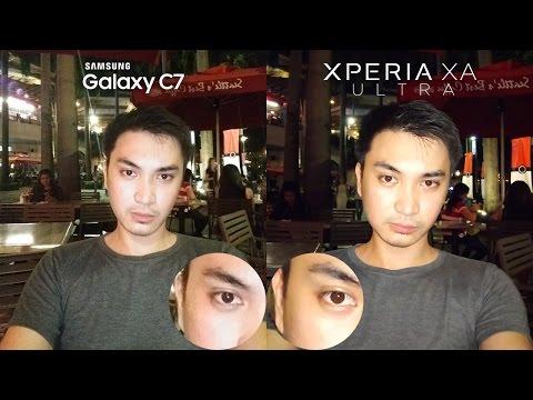 Galaxy C7 vs Xperia XA Ultra Review + Camera Comparison