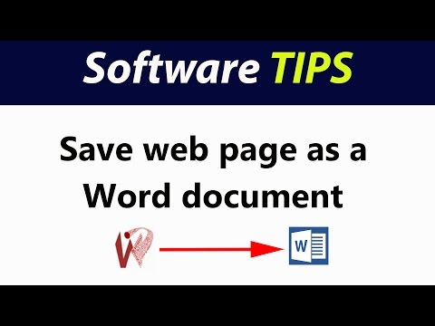 Save a web page as a Word document