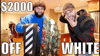 MY BROTHER SURPRISED ME WITH $2000 OFF WHITE OUTFIT!! *shocked*