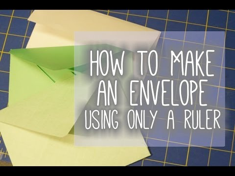 How to Make an Envelope with Minimal Materials (Using a Ruler)