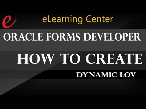 Oracle Forms Developer 10g How to create Dynamic LOV