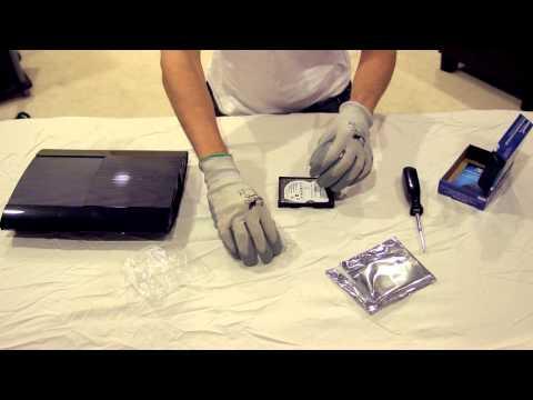 PS3 Hard Drive Upgrade Tutorial (12GB Super Slim Version)