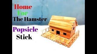 Cara Simpel Membuat Miniatur Rumah Hamster Dari Stik Es Krim