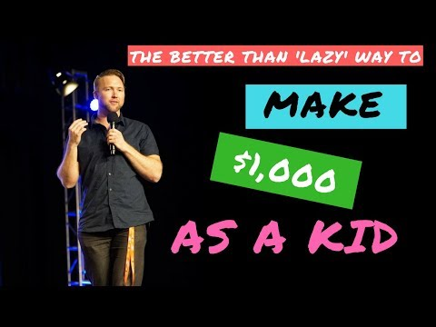 How To Make $1000 Dollars As A Kid! [The BETTER Than LAZY METHOD]