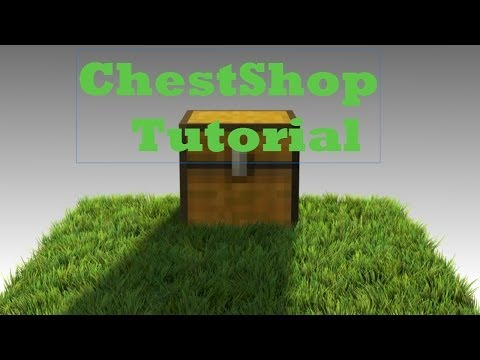 Minecraft: How to use Chest Shop Plugin!
