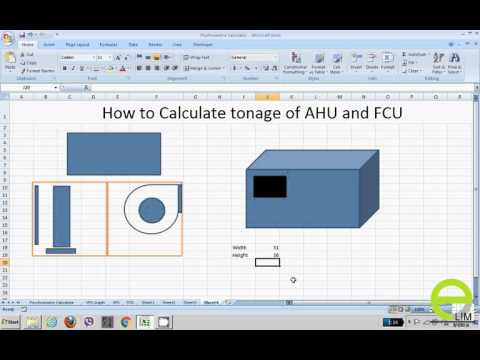 How to find tonnage of AHU & FCU from a very simple thumb rule.(Urdu/Hindi)