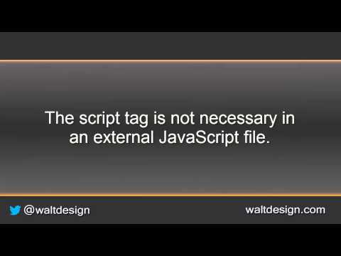 Move Your Internal JavaScript To An External File