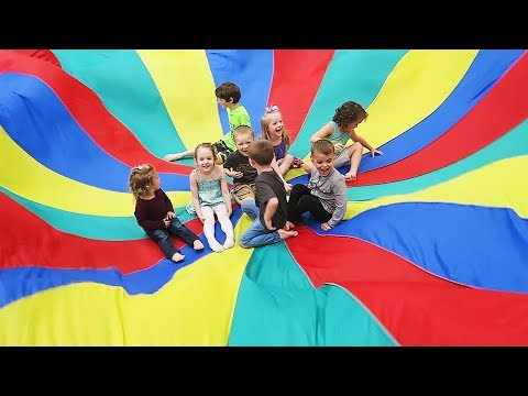 Kids Trapped in HUGE Parachute!