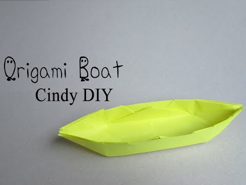How to make super easy origami Boat that float | Tutorial by Cindy DIY