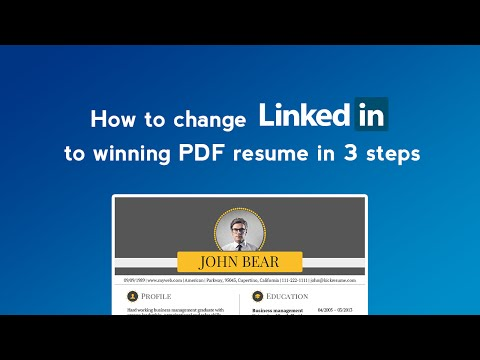 How to convert LinkedIn profile to resume in minutes