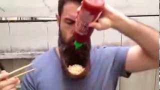 BEARD PLATE!!!!!!!!! HAVE EVER EAT PASTA IN YOUR BEARD WITH STICKS?