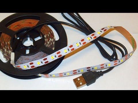 5V USB-powered LED Strip Test