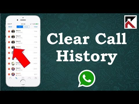 How To Clear Call History On WhatsApp iPhone