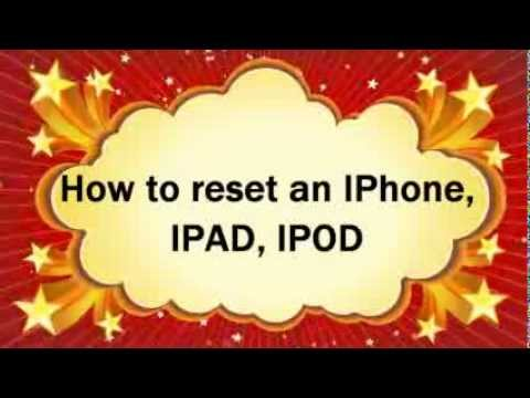 How to reset IPhone 3G, 3GS, 4, 4G, IPad 1, ipad 2, IPod touch