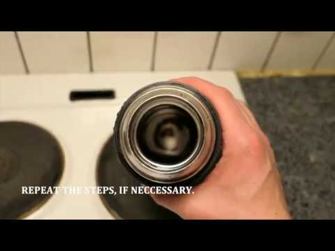 How to remove grim/coffee stain from thermos
