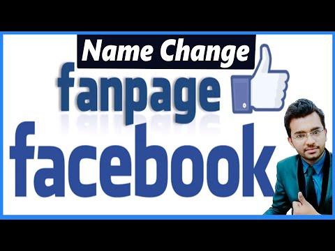 Facebook: Change Fan-Page Name 100% Working tricks [Hindi] 2018