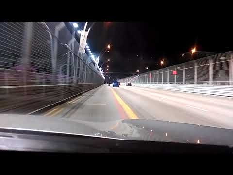 Night street circuit view of the Formula1 Singapore Grand Prix  (Discoveries) (STEM)