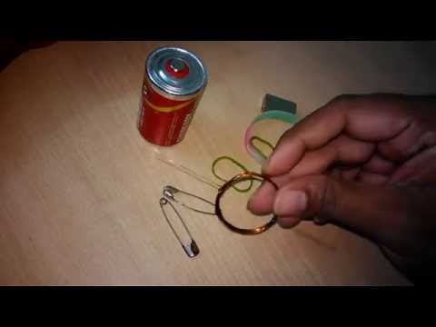 Simple Electric Motor at Home for Science Project (Making video)