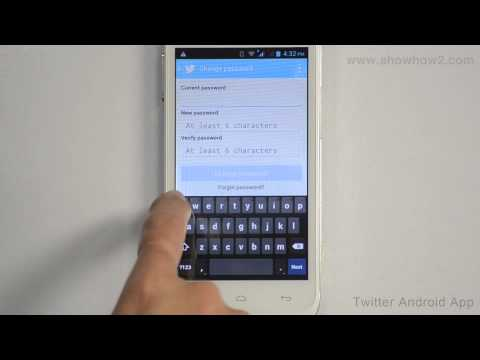Twitter Android App - How To Change Password