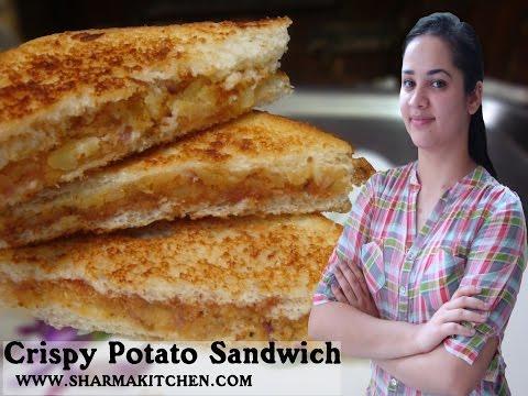 Crispy Potato Sandwich (Without Sandwich Maker)| Veg Sandwich Recipe | Bread Sandwich | RECIPE #45