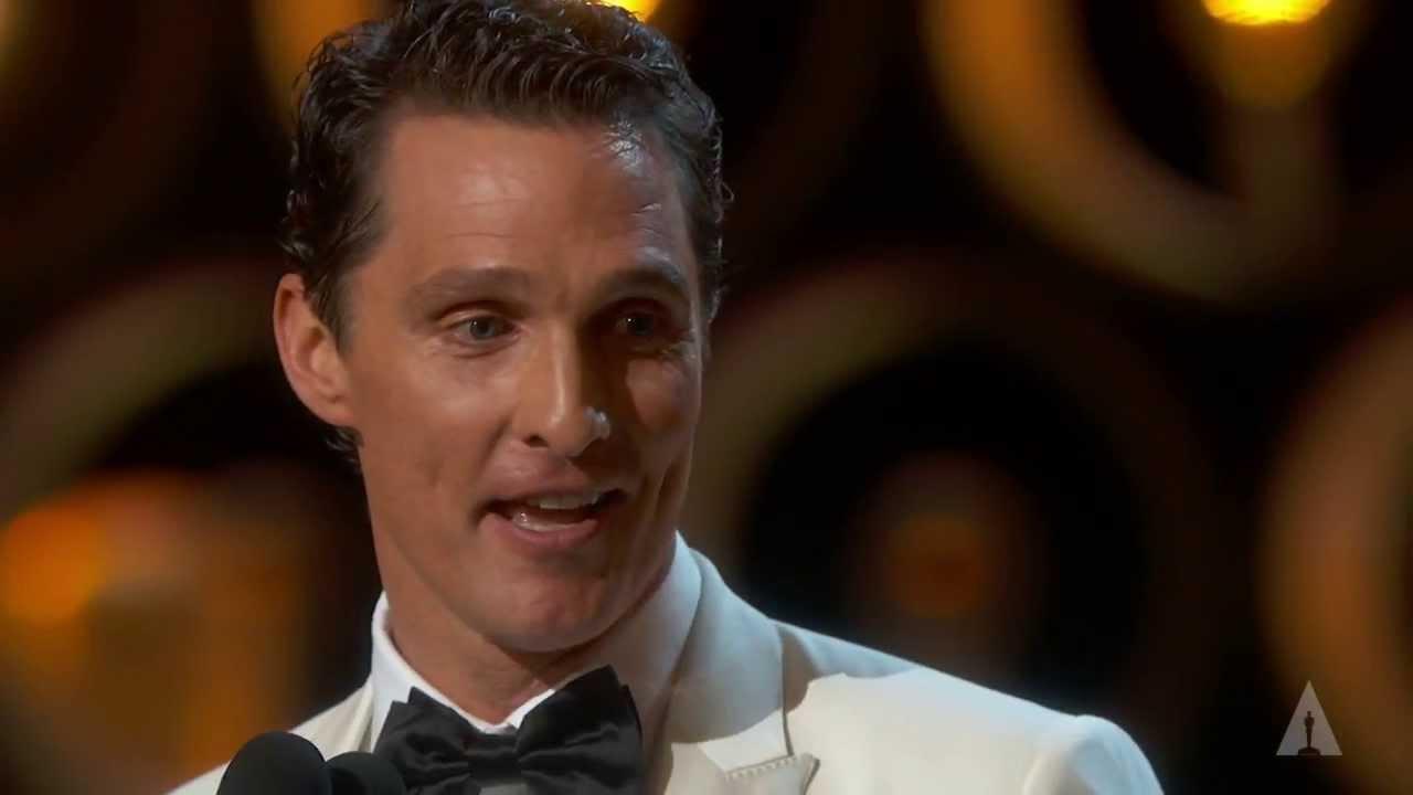 Matthew McConaughey winning Best Actor