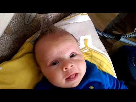 How to easy style newborn's hair