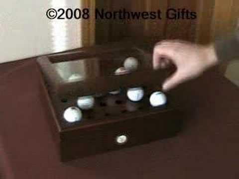 Golf ball vault - desktop golf ball display
