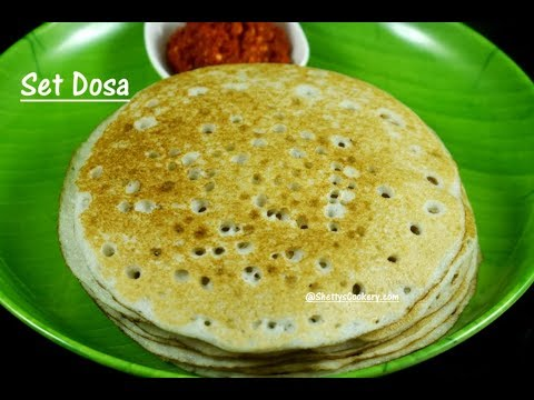 set dosa recipe | set dose recipe | Hotel style set dosa