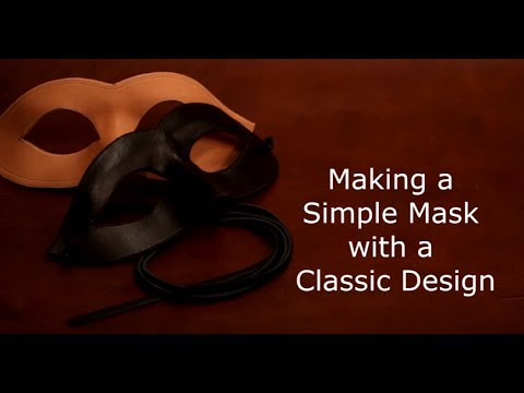 Making a Leather Eye Mask