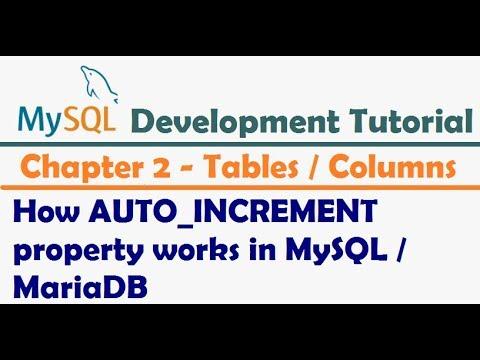How AUTO INCREMENT property works in MySQL or MariaDB - MySQL Developer Tutorial
