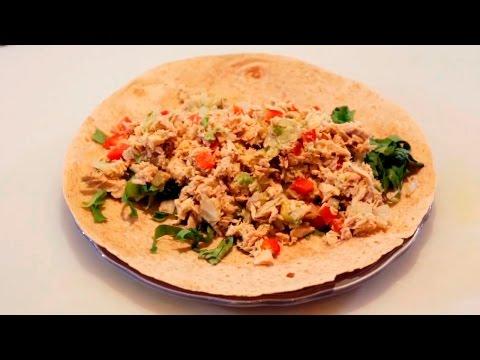 Avocado Tuna Salad Wrap Recipe