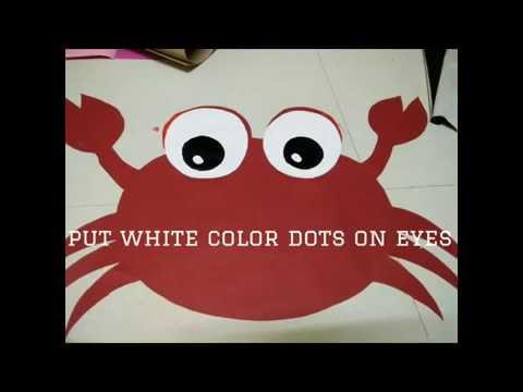 Fancy dress topic sea animals : crab
