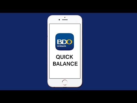 How to Setup Quick Balance in BDO App