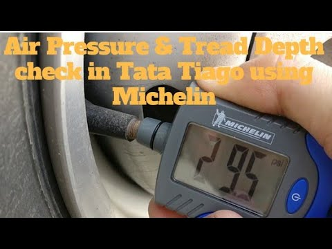 Air Pressure & Tread Depth check in tata tiago using Michelin