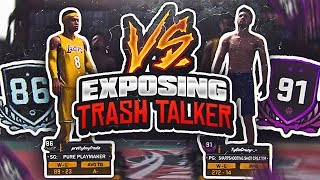 91 OVERALL TRASH TALKER GETS EXPOSED!!!! 20 POINTS ON HIS HEAD!!! PLAYGROUND NBA 2K18
