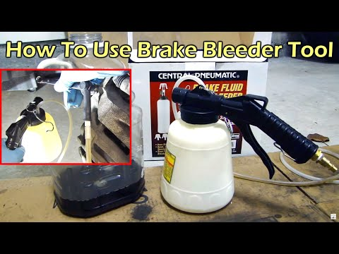 Harbor Freight Pneumatic Brake Fluid Bleeder - One Person Job