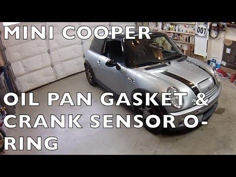 Replace MINI Cooper crank sensor o-ring & oil pan gasket R50 R52 R53