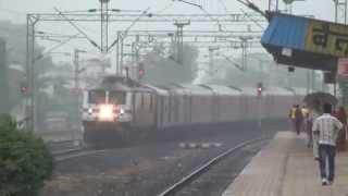 Bangalore Rajdhani Express Early Morning Delightful Capture at Betul, Madhya Pradesh, India