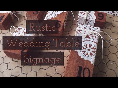 Rustic Wedding Table Signage
