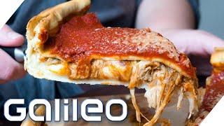 Hauchdünn oder mega dick? So isst die Welt Pizza! | Galileo | ProSieben