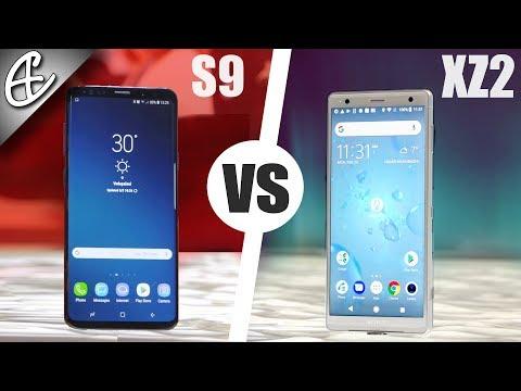 Samsung Galaxy S9 vs Sony Xperia XZ2 Hands On Comparison!