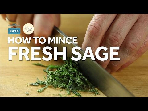 Knife Skills: How to Mince Fresh Sage Leaves