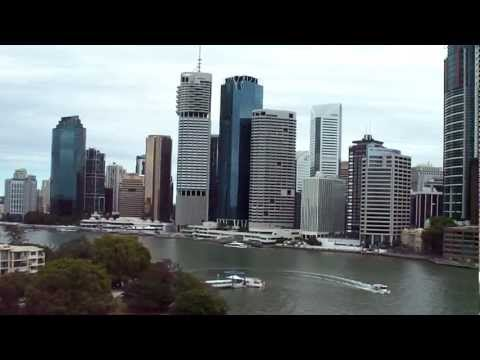 Brisbane city and river view from Story Bridge.