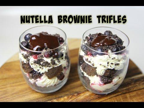NUTELLA BROWNIE TRIFLES - CookingwithKarma