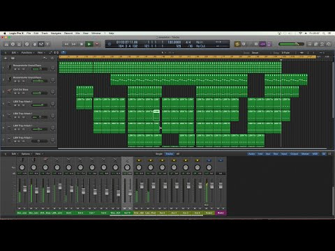Making A Grime Trap Electronic Piano Instrumental Beat In Logic Pro X